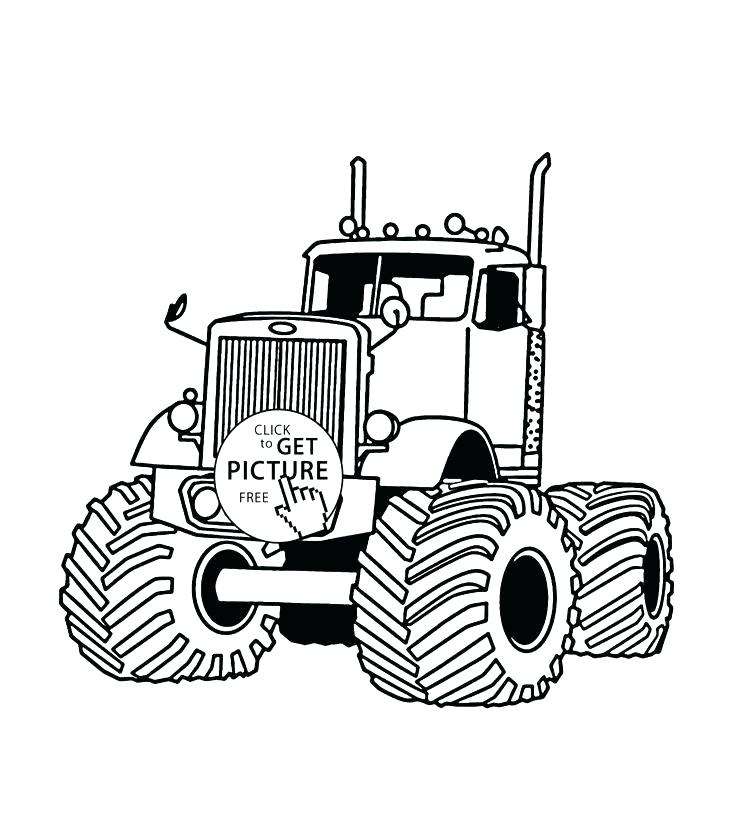 736x833 Free Monster Truck Coloring Pages To Print Printable Jam Jumper