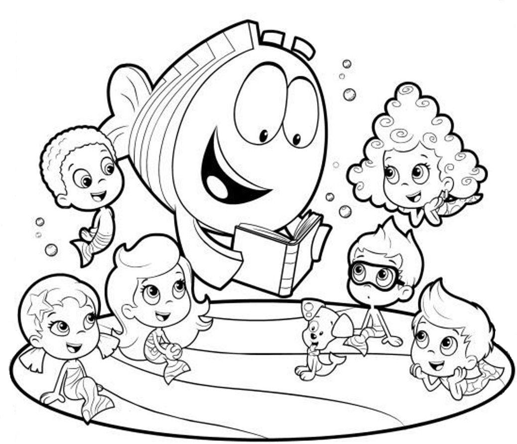 1038x891 Bubble Guppies Coloring Pages