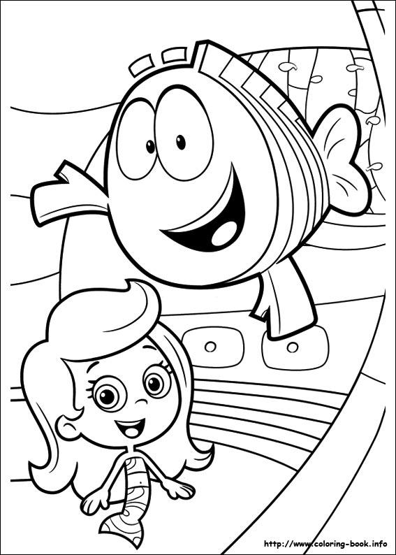 567x794 Bubble Guppies Coloring Picture Para Colorear Bubble