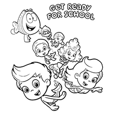 230x230 Awesome To Do Bubble Guppies Coloring Pages Free Printable