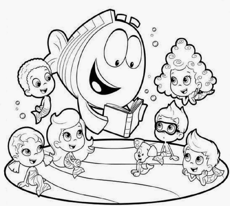 934x837 Bubble Guppy Coloring Pages Inside Guppies Inspirations