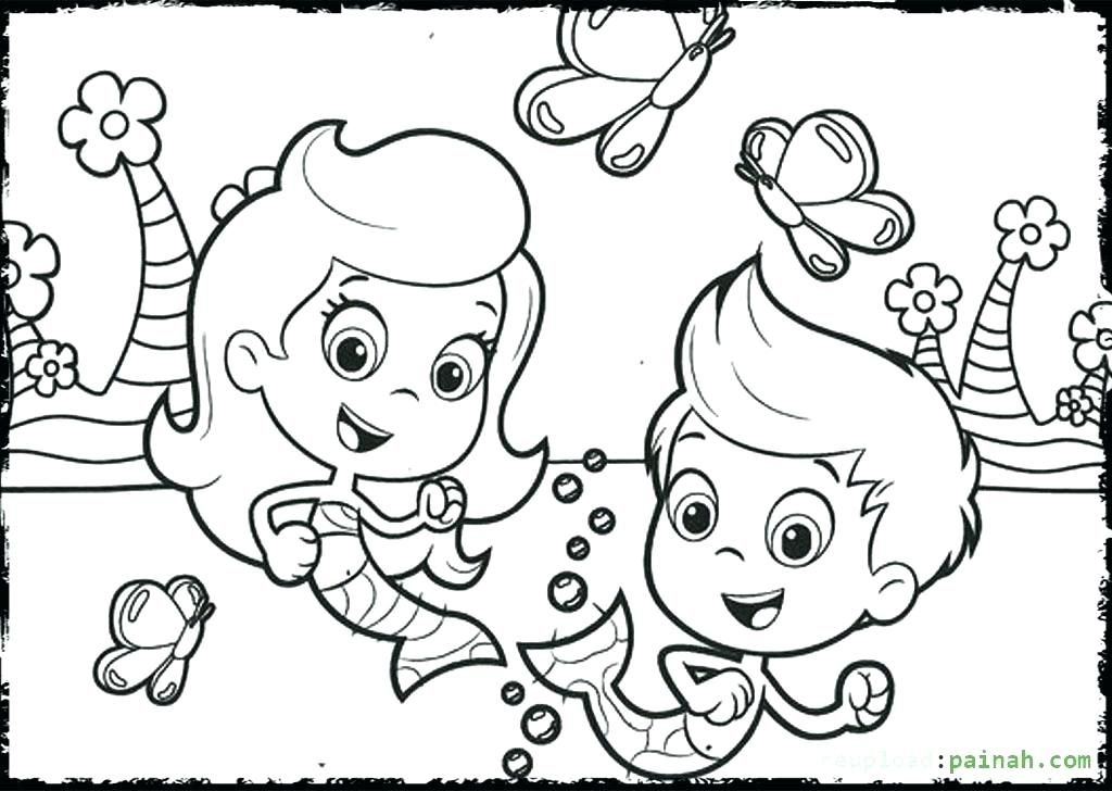 1024x728 Elegant Bubble Guppies Coloring Pages For With Pertaining