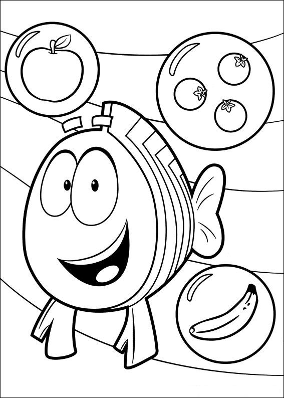 567x794 Kids N Coloring Pages Of Bubble Guppies