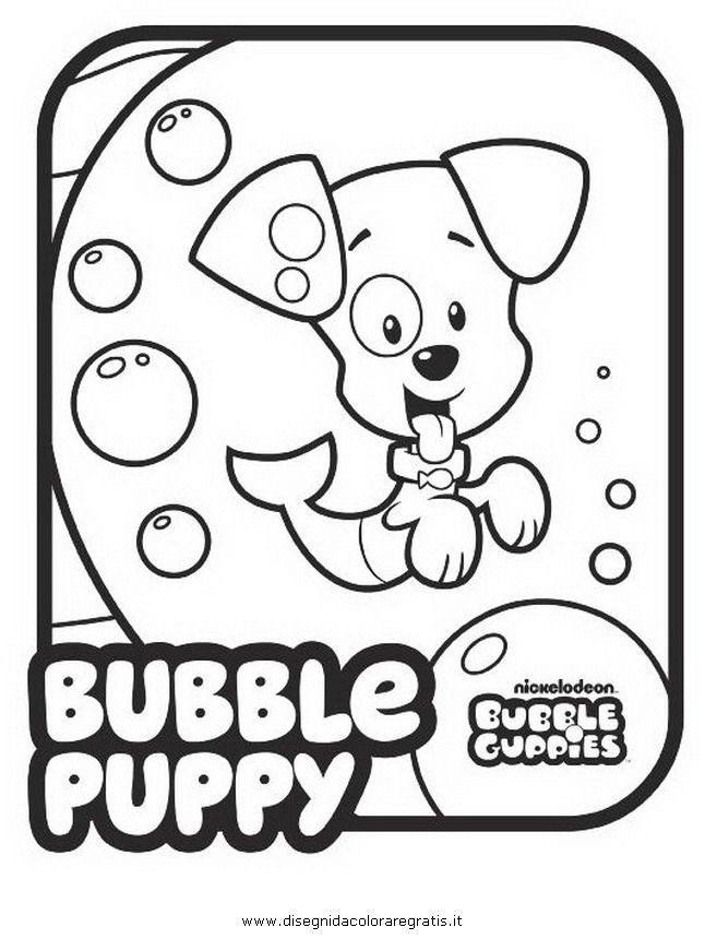 646x860 Printable Bubble Guppies Coloring Pages