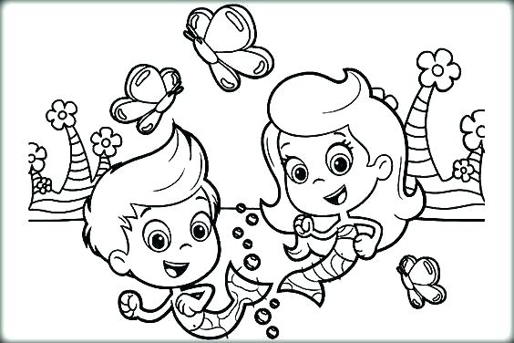 564x376 Bubble Guppies Coloring Page