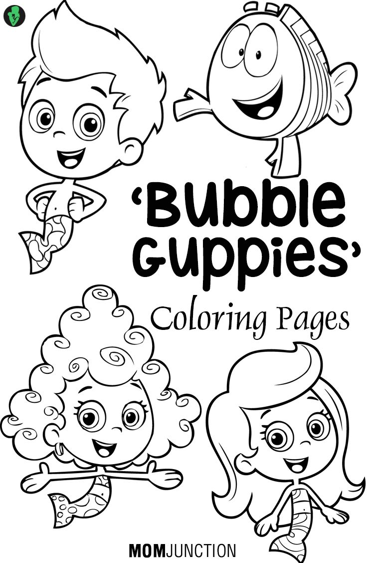 736x1128 Bubble Guppies Coloring Pages