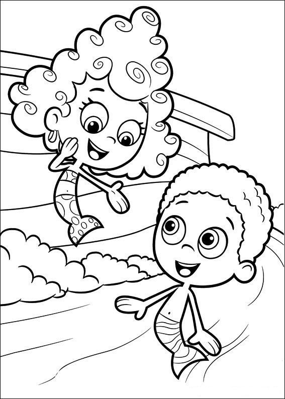 567x794 Bubble Guppies Coloring Pages