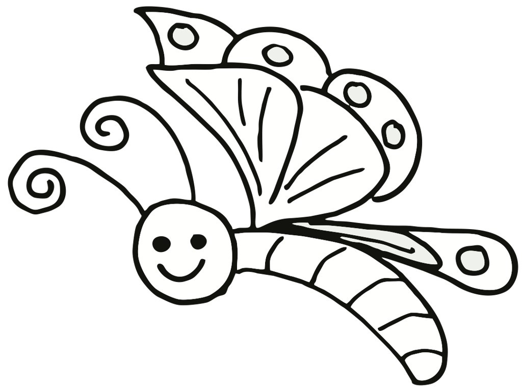 1024x768 Butterfly Coloring Pages Printable Free Printable Butterfly