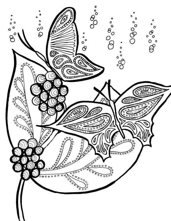 600x776 Butterflies Coloring Pages
