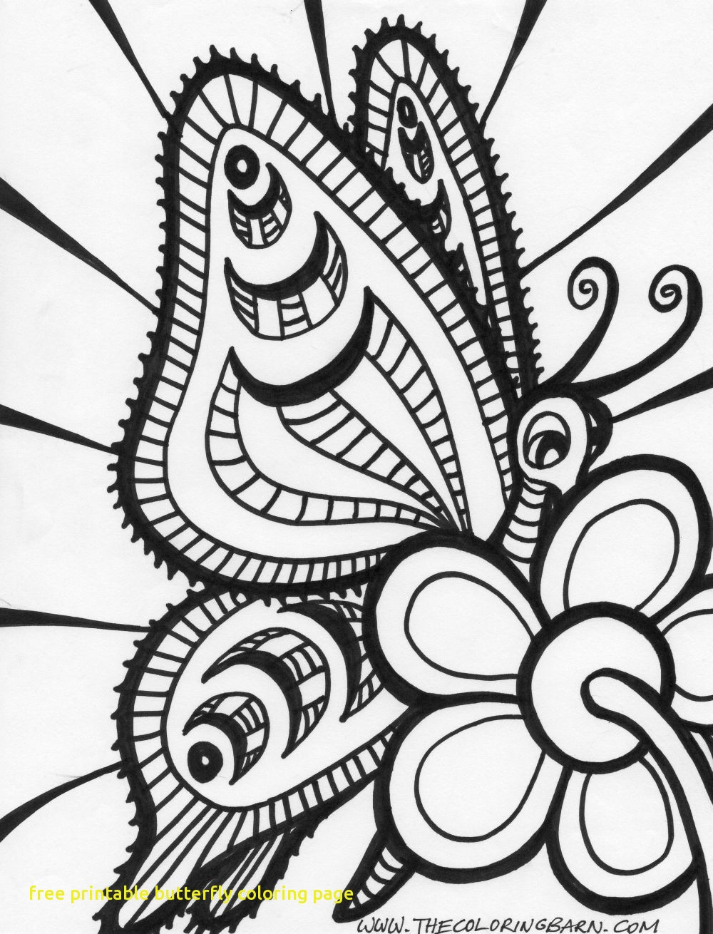 1000x1310 Free Printable Butterfly Coloring Page With Butterfly Coloring