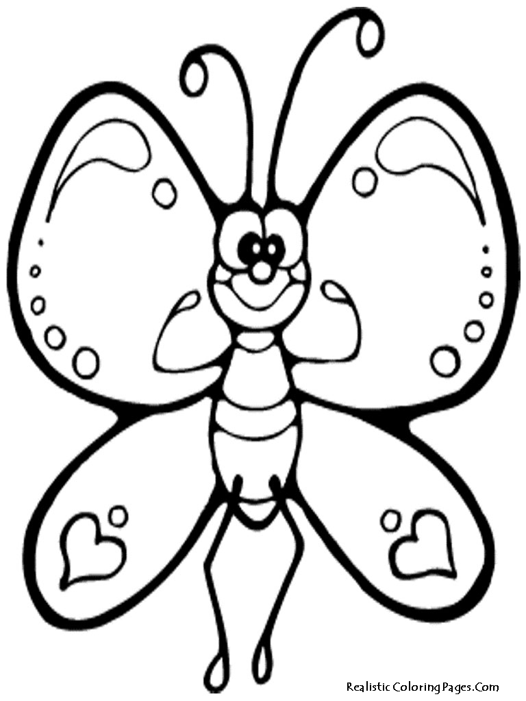 768x1024 Butterfly Coloring Pages Download Free Printable Realistic
