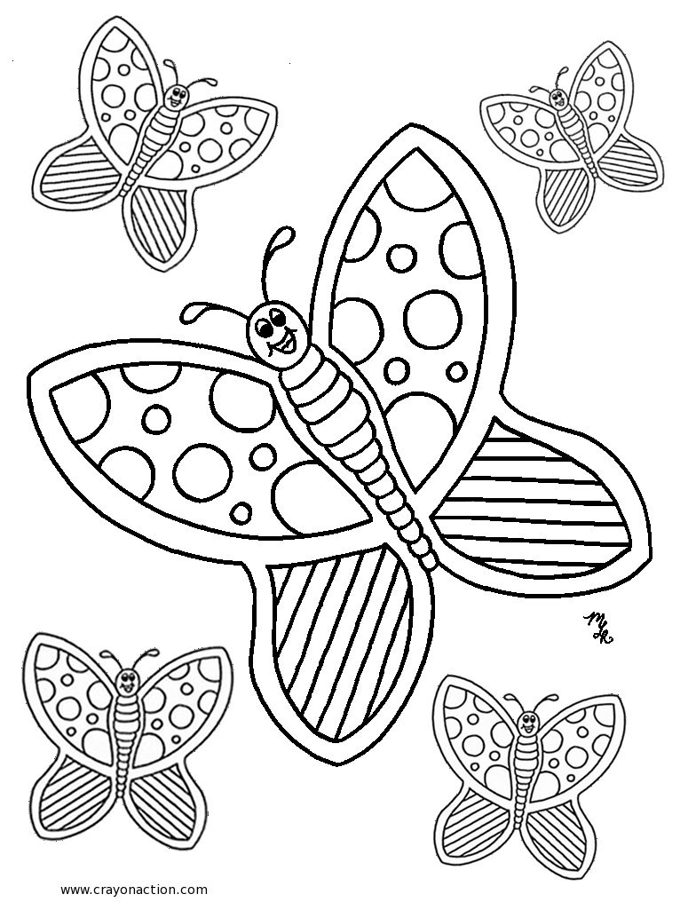 784x1025 Butterfly Coloring Pages Pdf