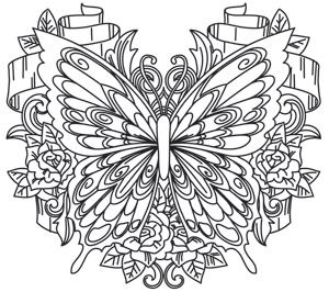 300x266 Best Butterflies To Color Images On Coloring Books