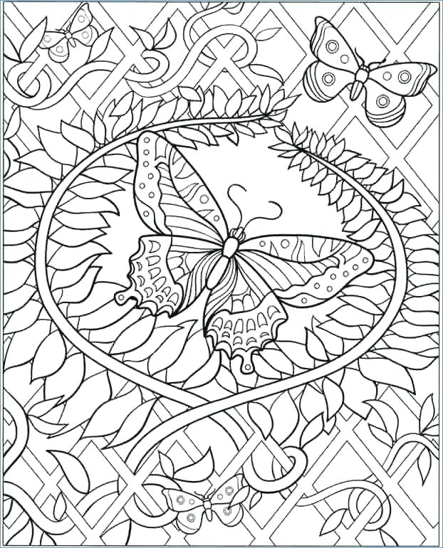 622x770 Coloring Pages Butterfly Printable Difficult Coloring Pages