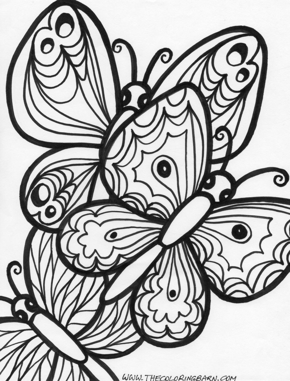 1000x1310 In Free Printable Butterfly Coloring Pages For Adults