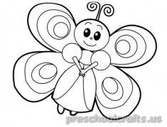 235x179 Best Butterfly Coloring Pages For Kids Images