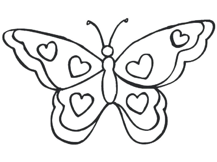 909x680 Cute Butterfly Coloring Pages Spring Coloring Pages Printable