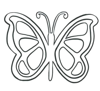 425x389 Simple Butterfly Coloring Pages Monarch Butterfly Coloring Pages