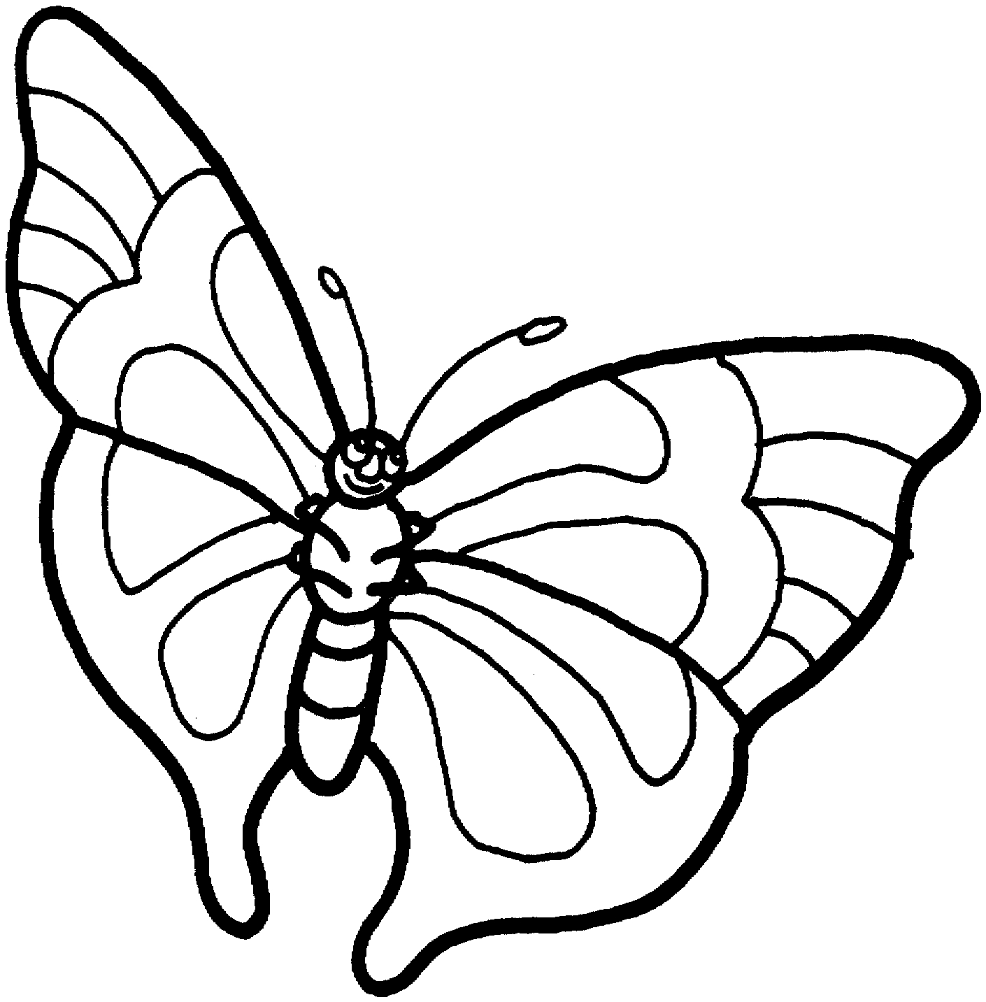 1410x1433 Unique Cartoon Butterfly Coloring Pages Design Printable