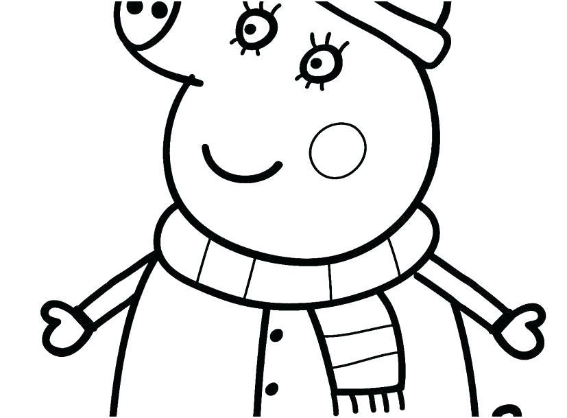 827x609 Free Cartoon Coloring Pages Cartoon Pig Coloring Pages Free