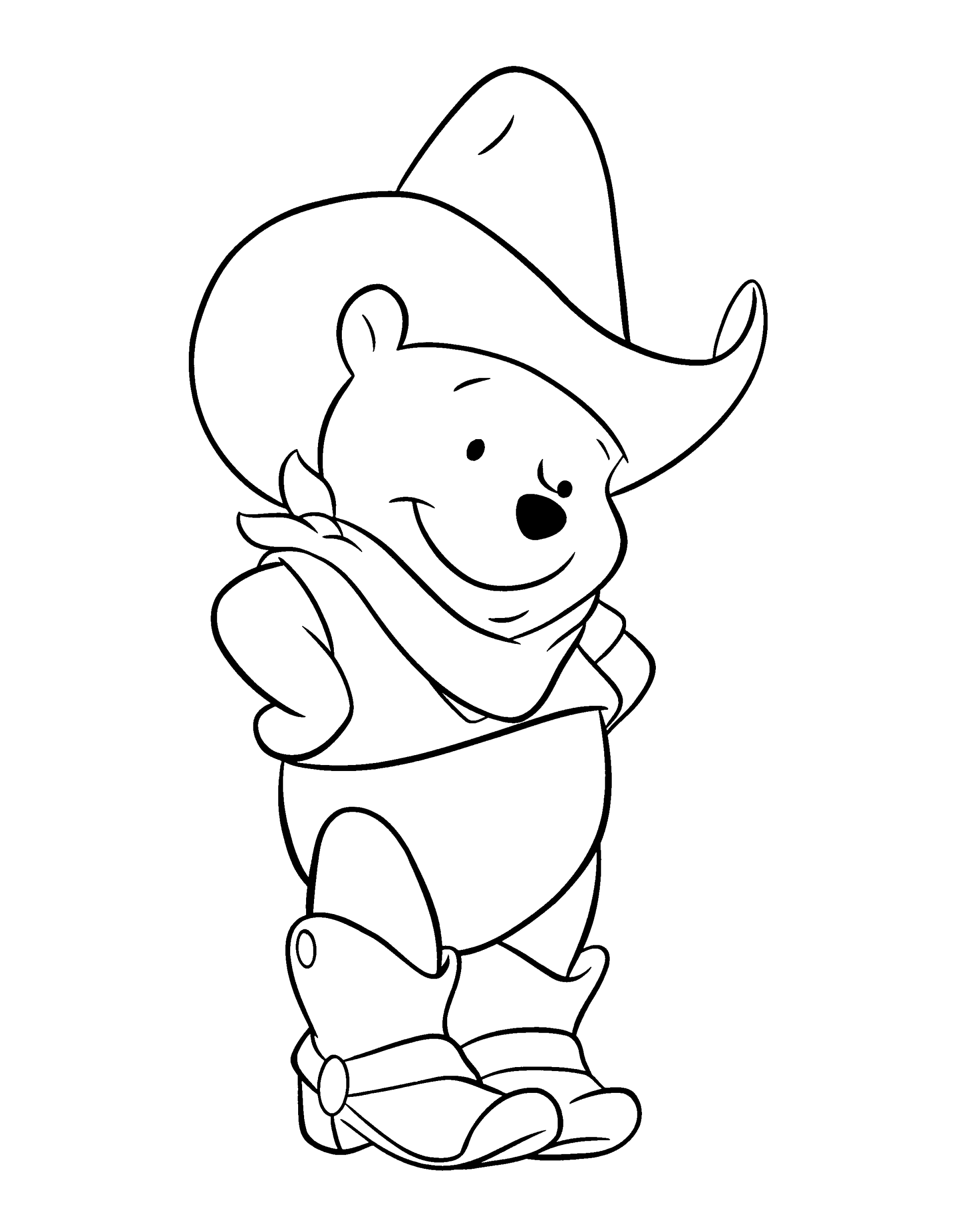 1920x2480 Best Cowboy Pooh Cartoon Coloring Pages Free Printable