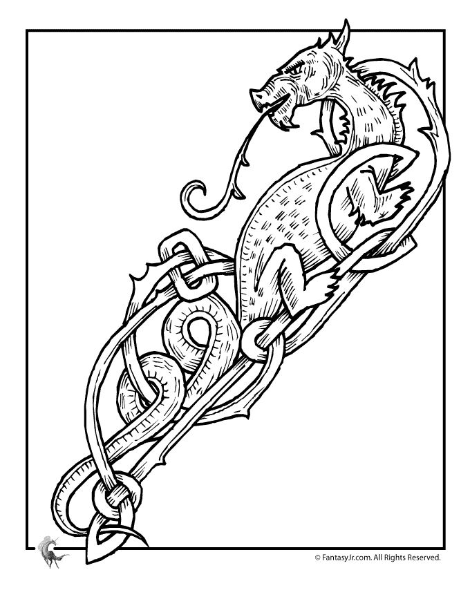 Free Printable Celtic Coloring Pages For Adults
