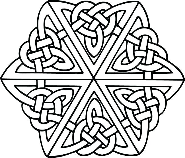 Free Printable Celtic Knot Coloring Pages At Getdrawings Com Free