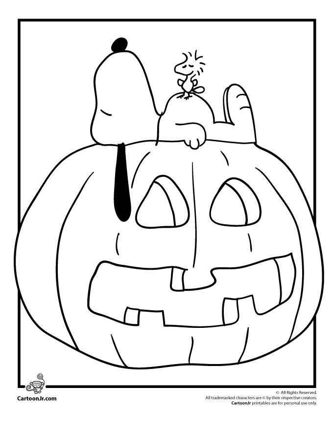 Free Printable Charlie Brown Halloween Coloring Pages