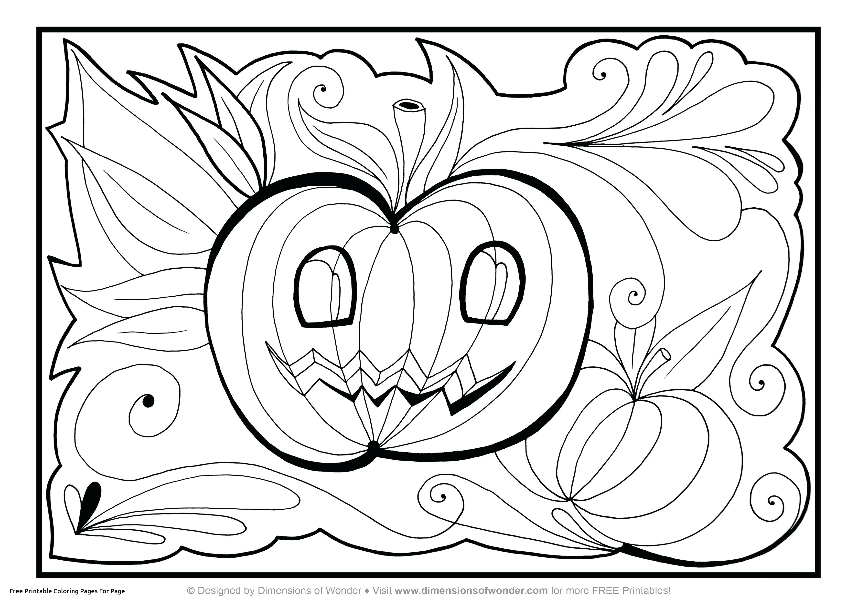 3508x2480 Charlie Brown Halloween Coloring Pages Printable