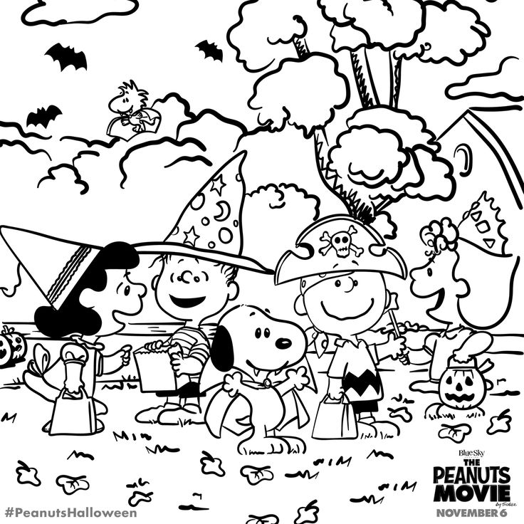 736x736 Snoopy Halloween Coloring Pages Charlie Brown Halloween