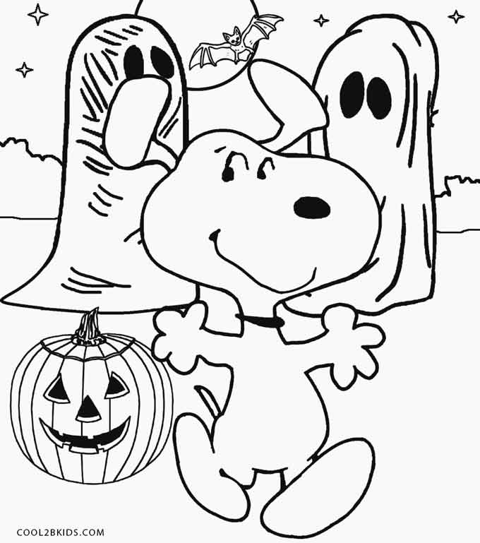 680x769 Snoopy Halloween Coloring Pages Charlie Brown Halloween