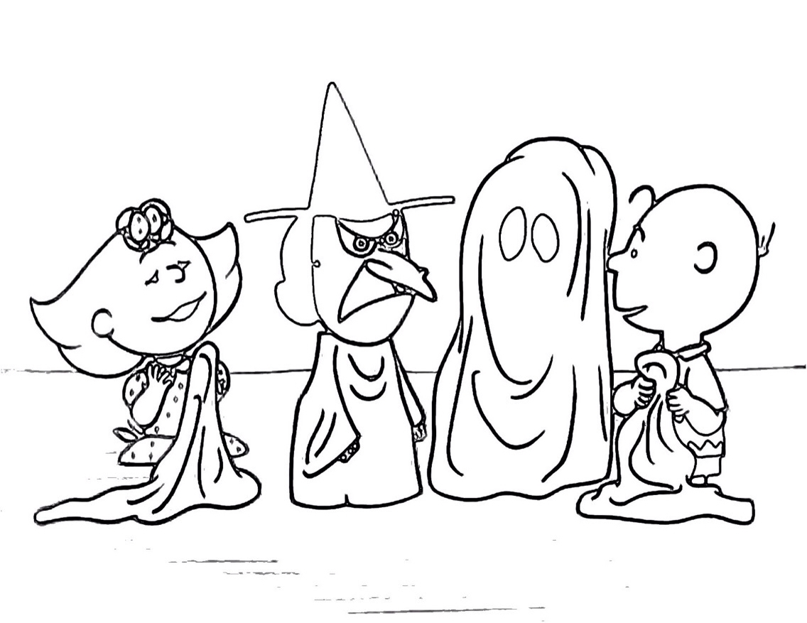 1136x877 Charlie Brown Halloween Coloring Pages Collection Coloring