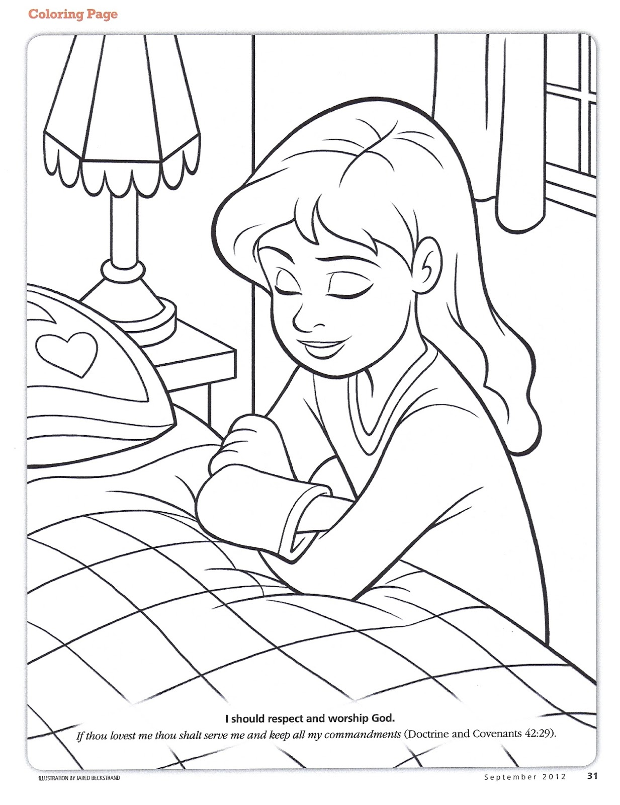 1233x1600 Children Praying Coloring Sheets Free Page To Print Kids Color