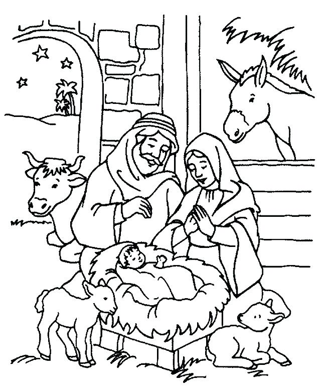 652x779 Christian Christmas Coloring Pages Free Cartoon Printable Coloring