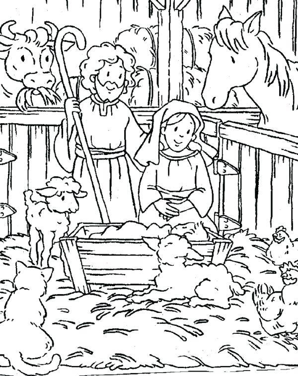 600x757 Christian Christmas Coloring Pages Free Christian Christmas