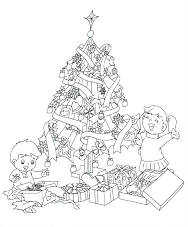 600x727 Preschool Christmas Coloring Pages Free Printable Preschool