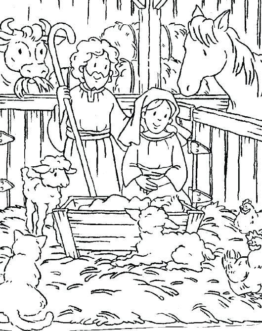 530x669 Religious Christmas Coloring Pages Free Christian Coloring Pages
