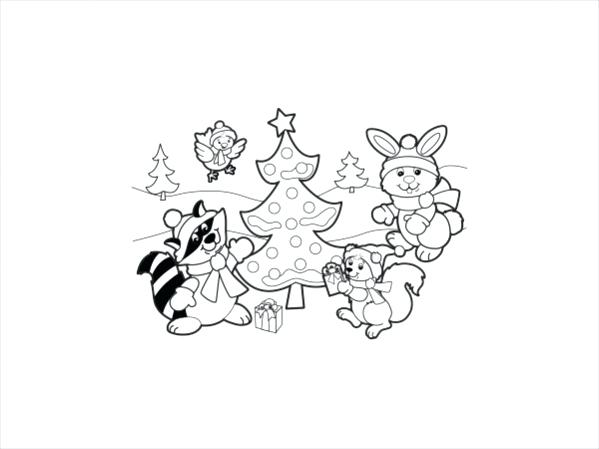 599x449 Childrens Christmas Coloring Pages Decorating Christmas Tree