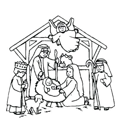 Free Printable Christian Christmas Coloring Pages at GetDrawings.com ...