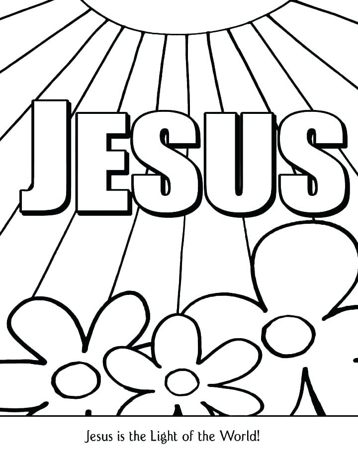 Free Printable Christian Coloring Pages For Preschoolers At Getdrawings Free Download