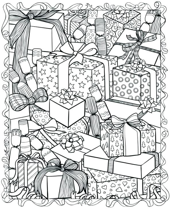 596x728 Free Printable Christmas Coloring Pages For Adults Only