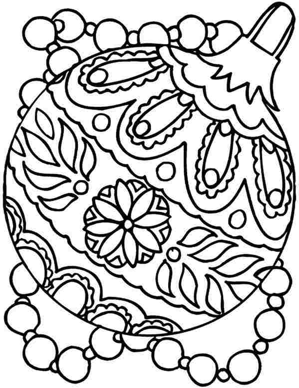 599x777 Best Christmas Ornament Coloring Pages Free Printable
