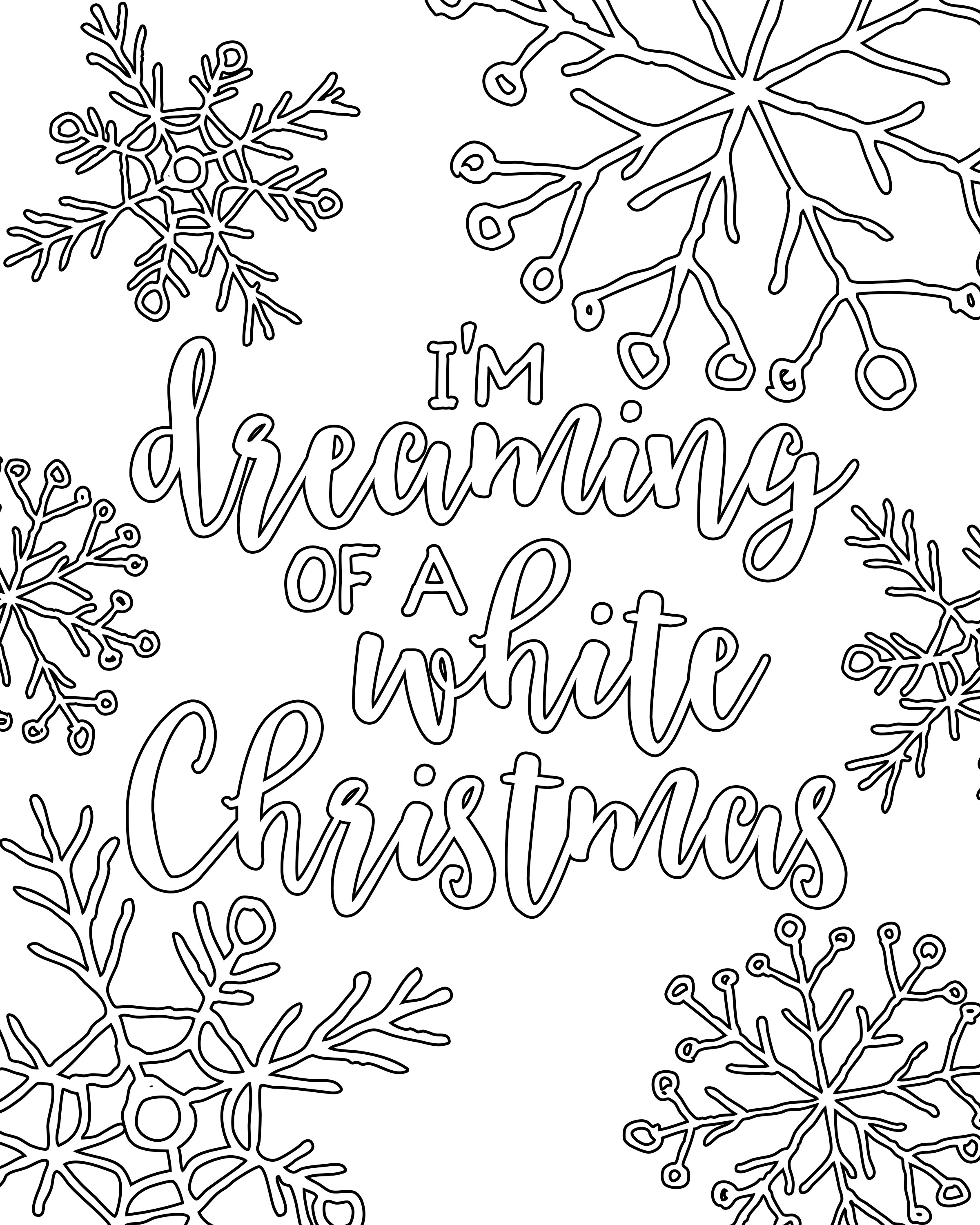 2400x3000 Free Printable White Christmas Adult Coloring Pages