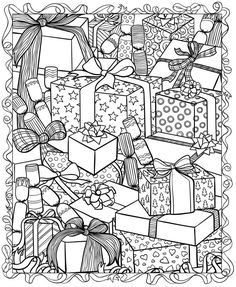 236x287 Free Printable Christmas Cards To Color In Mr Printables