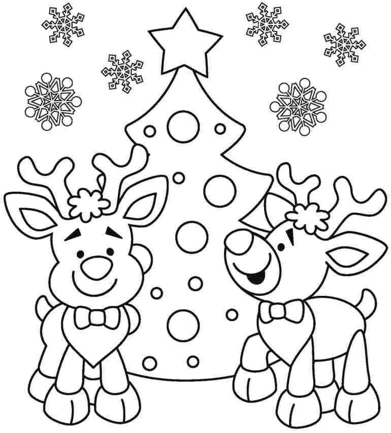 Free Printable Christmas Coloring Pages For Toddlers At