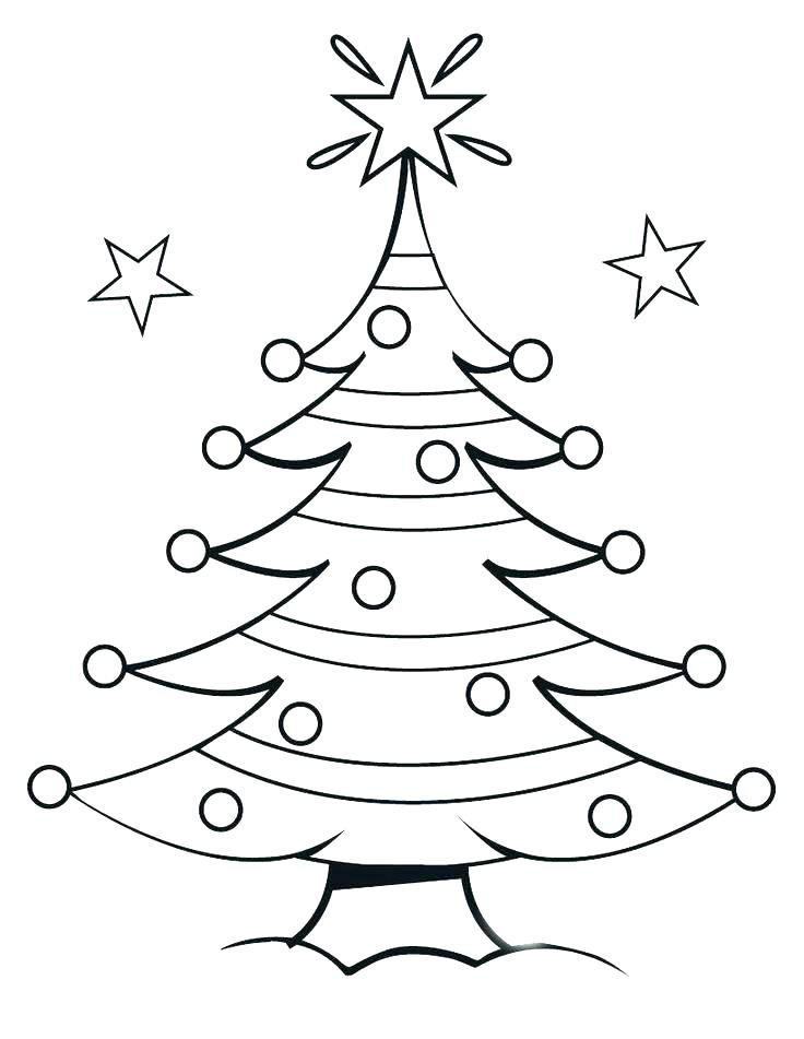 736x951 Christmas Tree Coloring Pages Printable Tree Coloring Pages Tree