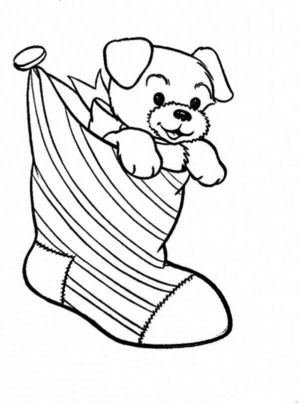 Free Printable Christmas Stocking Coloring Pages