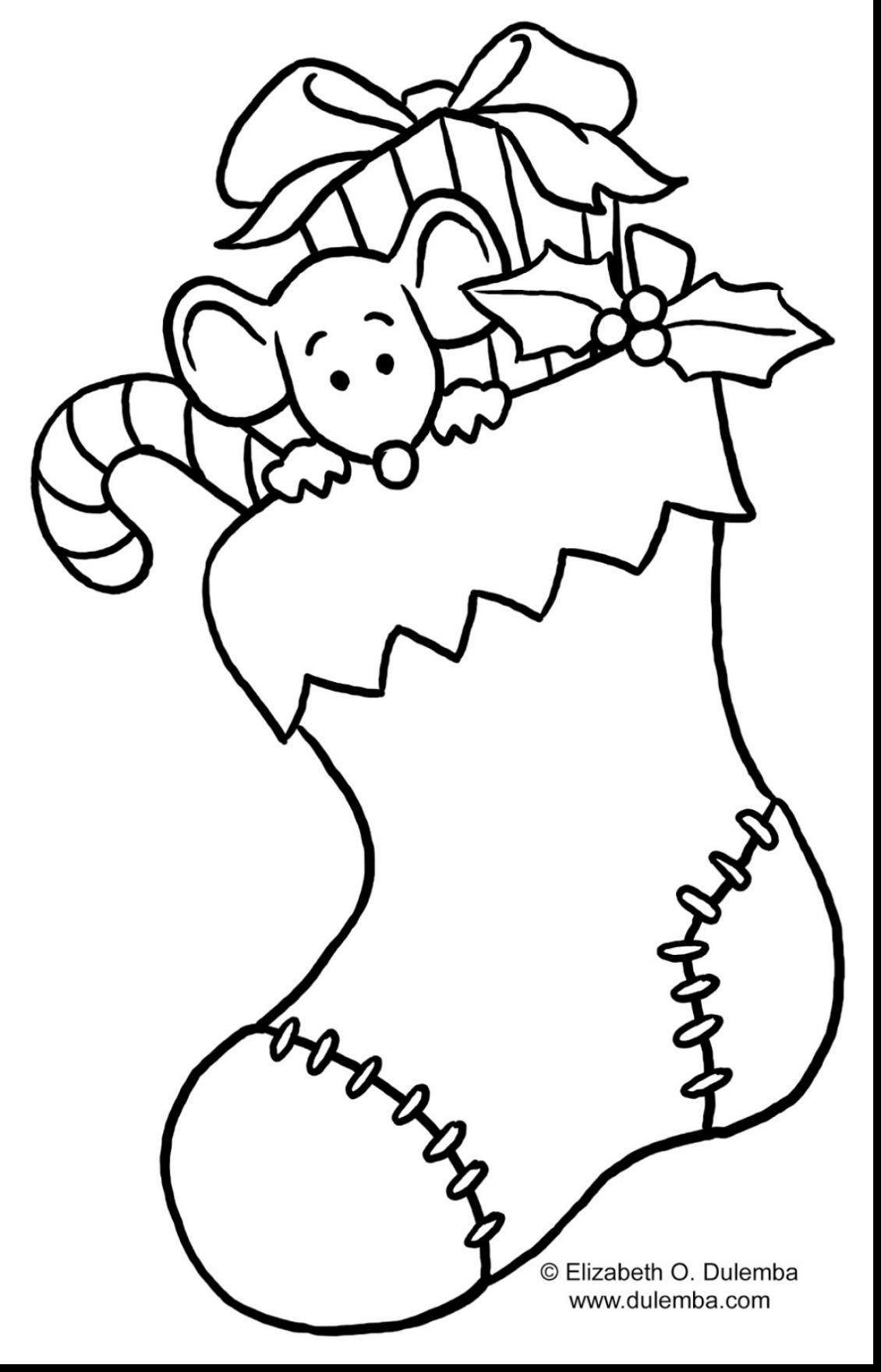Free Printable Christmas Stocking Coloring Pages at ...