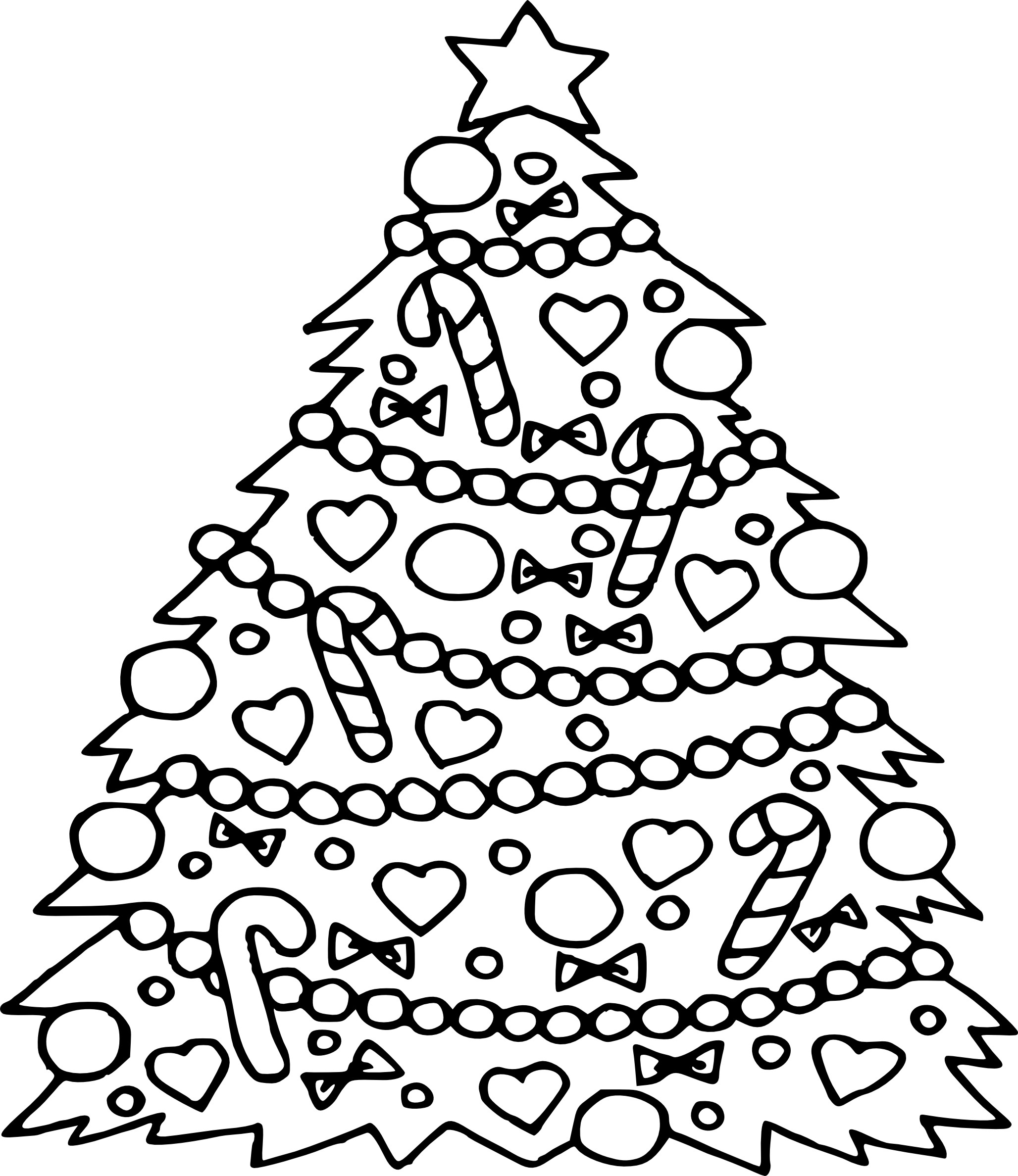 image regarding Free Printable Christmas Tree Template named Free of charge Printable Xmas Tree Coloring Webpages at GetDrawings