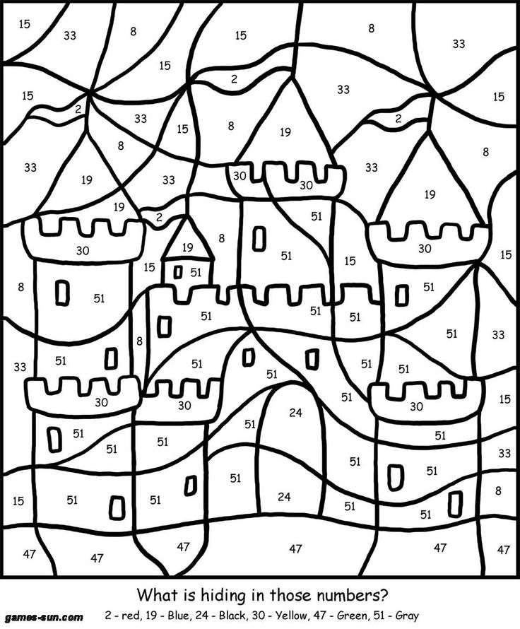 Free Printable Color By Number Coloring Pages For Adults At GetDrawings  Free Download